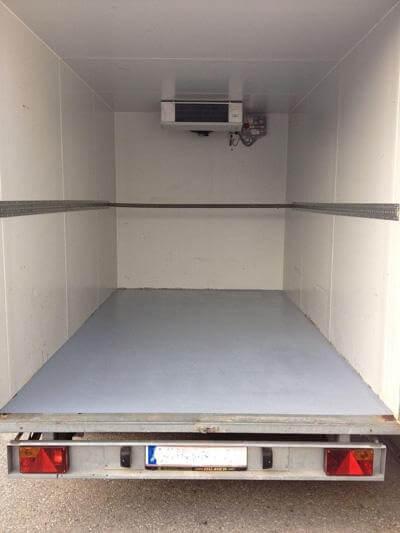 Tandem Kühlkoffer 3,6m x 2m / Kühlkoffer Verleih