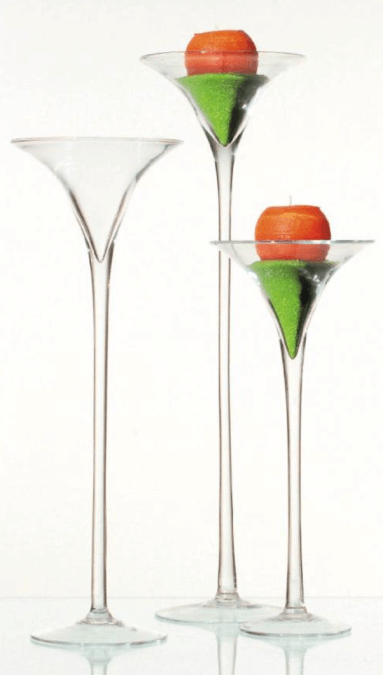Martini Glasvase / Dekoverleih