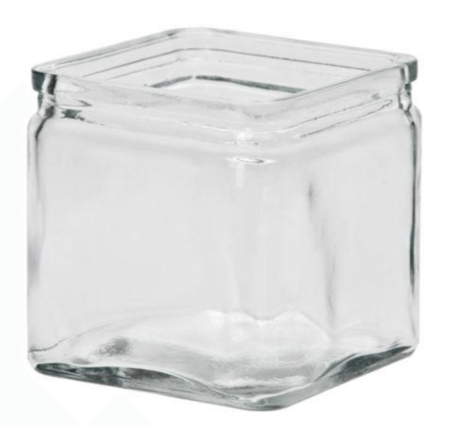 Quader - Vase / Dekoverleih