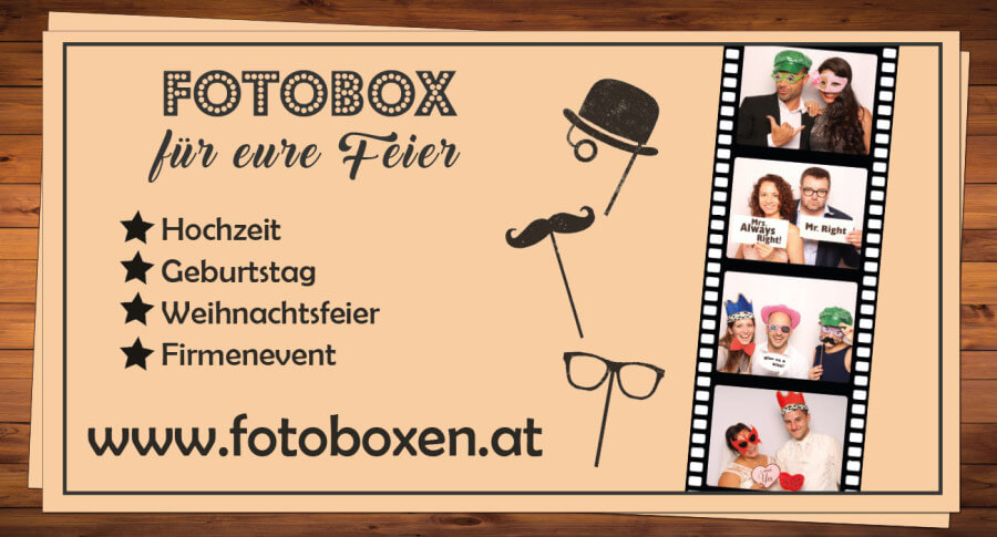 Photobooth / Fotobox mit Sofortdruck