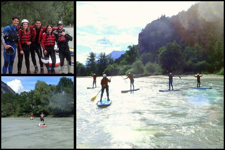 Geführte Wildwasser Stand Up Paddling Touren für Anfänger und Fortgeschrittene.