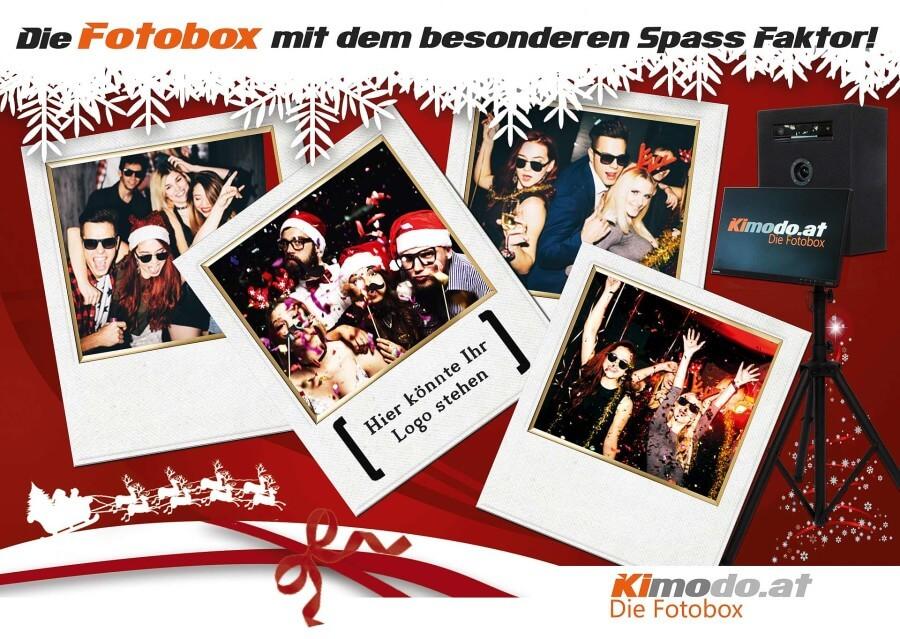 Kimodo - Die Fotobox Das Weihnachts Special für den ganzen Abend ohne Stundenlimit inklusive Sofortdruck300*