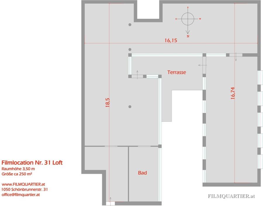 Loft – 250m² mit Terrasse / Atelier