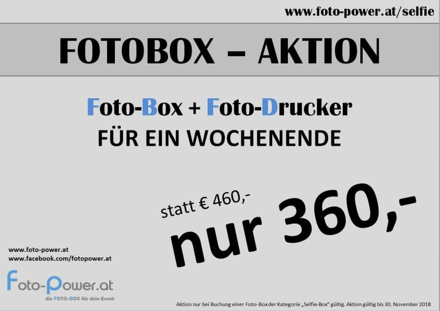 FOTOBOX AKTION SELFIE-BOX DIY inkl. FOTO-DRUCKER # Fotobooth
