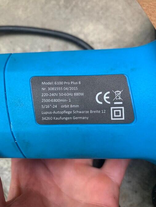 Autopoliermaschine - Lupus 6100 Pro Plus 8mm