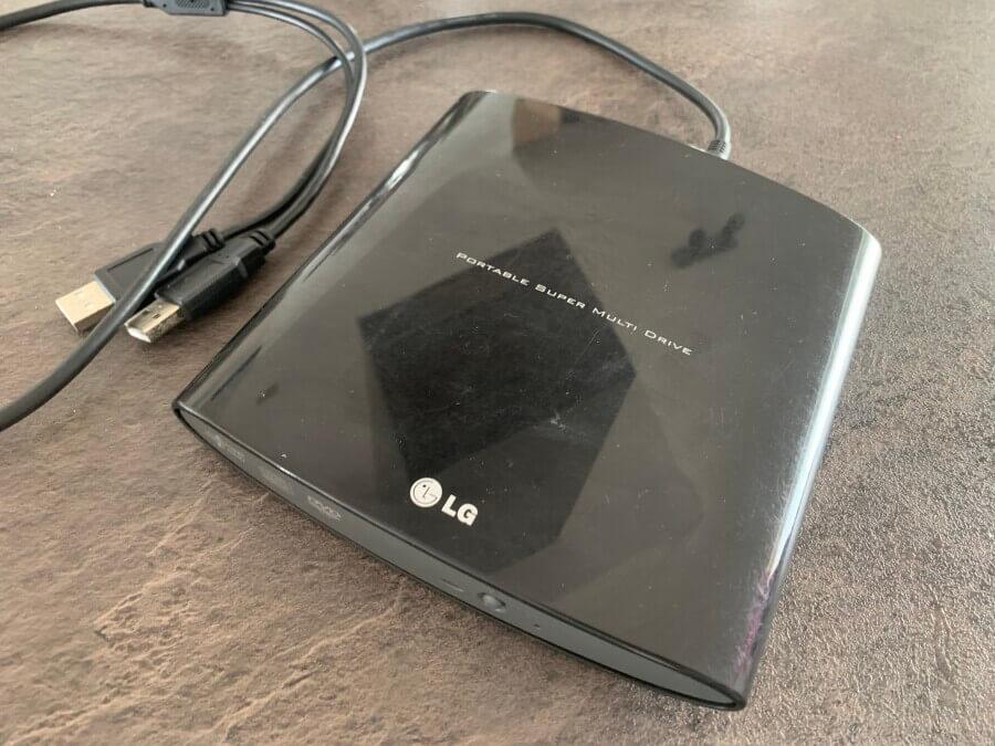 Externes LG CD Laufwerk mit CD / DVD Brenner