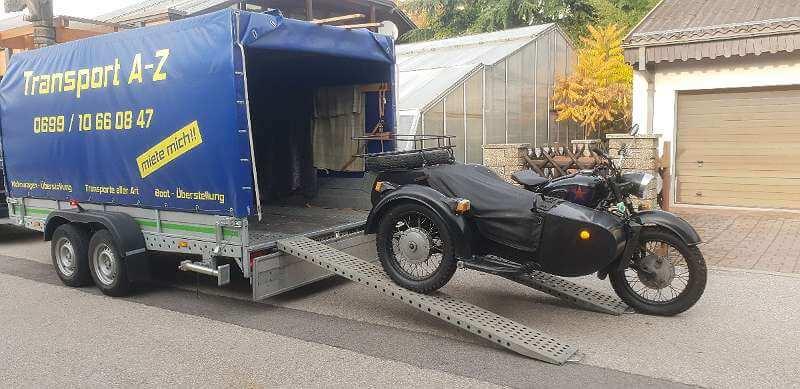 Motorrad - Traik - Spyder - Quad Überstellung
