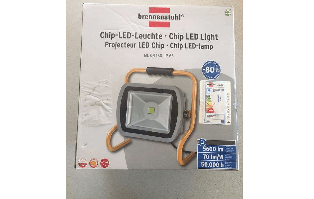 BRENNENSTUHL Mobile Chip-LED-Leuchte 80W IP65 Outdoor 5600lm