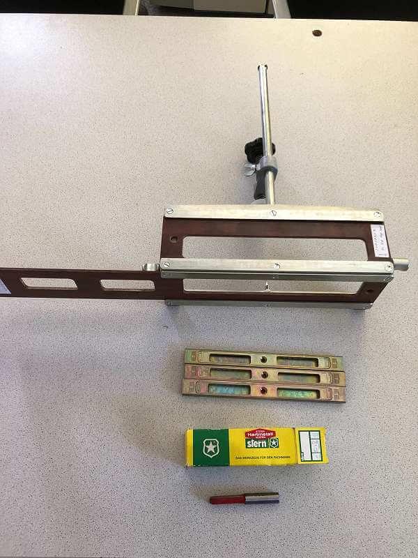 SCHEER Frässchablone für Schließblech SB / VAR, 348 07 054, 348 07 053 und Neuem STERN Schaftfräser 12 mm